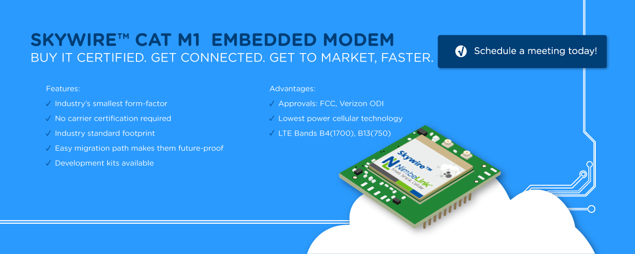 The Skywire® LTE-M Modem is Now Certified - NimbeLink